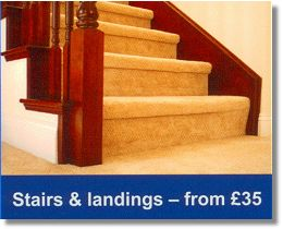 Stairs and landing carpet cleaning